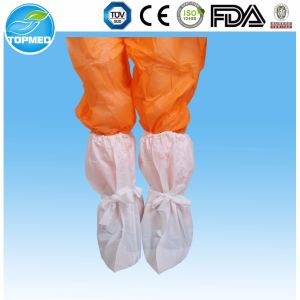 Medical Disposable Plastic Boot Cover with Elastic pictures & photos