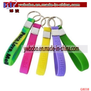 Custom Printed Business Silicon Keyring Key Ring Promotional Keychain Promotion Items (G8038) pictures & photos