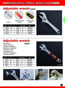 """6""""-24"""" Adjustable Wrench pictures & photos"""
