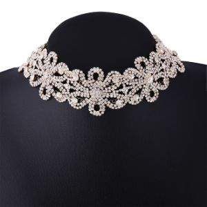 Fashion Luxury Full Rhinestone Collar Choker Necklace Jewelry pictures & photos