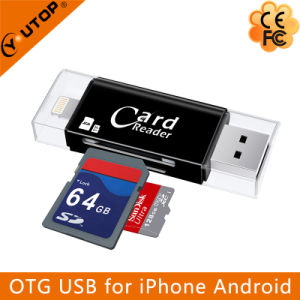 Microsd+SD OTG Card Reader for iPhone iPad iPod Android (YT-R007) pictures & photos
