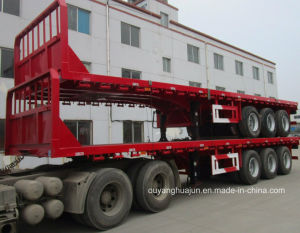 16.5 Meters Low Bed Trailer Truck pictures & photos