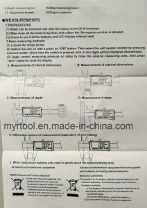 Touch Green Inudustrial Electronical Ditital Caliper (FYDC-150-300mm) pictures & photos