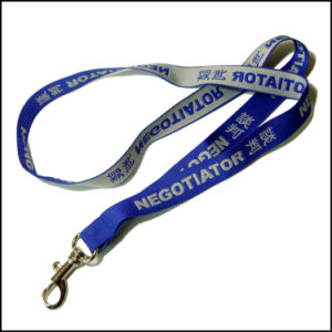 3D Thick Woven/Jacquard/Embroidered Logo Custom Lanyard for Office pictures & photos
