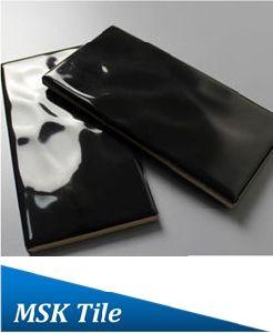75X150mm Raindrop Black Glazed Ceramic Subway Tile pictures & photos