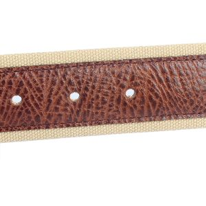Genuine Leather Canvas Belt Export Italy Brand Men Belt (SR-13027) pictures & photos