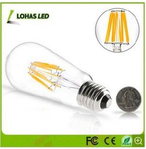 Dimmable Edison LED Filament Bulb Light Warm White with 2W 4W 6W 8W pictures & photos