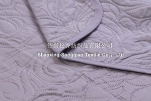 Laser Embossing 100% Cotton Blankets/ Bed Sheet 2 pictures & photos