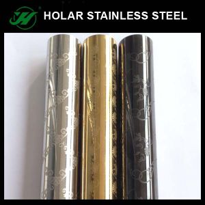 Stainless Steel Etching Pipe for Decoration pictures & photos