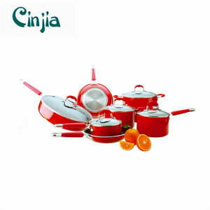 Red 12PCS Non-Stick Cookware Set pictures & photos