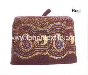 Embroidery Hat Factory Leisure Cap Muslim Wool Hat for Popular Design