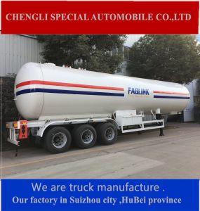 Three Axles Semitrailer Storage Tank Liquid Propane Gas LPG Tank pictures & photos