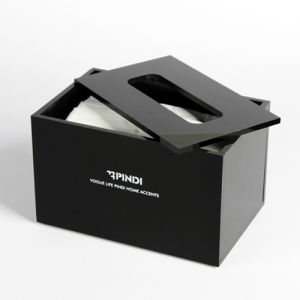 Black Acrylic Tissue Holder, Portable Lucite Tissue Storage Box pictures & photos