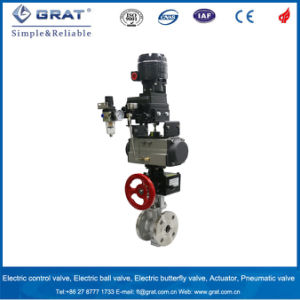 Pn64 High Pressure Flange Connection Pneumatic Ball Valve pictures & photos