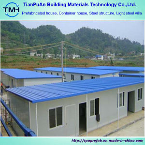 Prefabricated House Light Steel of Flat Roof pictures & photos