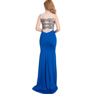 Women′s Sexy Fashion Wholesale Blue Party Girl Dress pictures & photos
