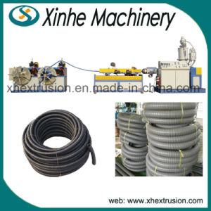 Plastic Single-Screw Extruder PE/PVC Single-Wall Corrugated Pipe Production Line pictures & photos