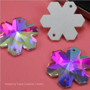 Snowflake Rhinestone Sew on Sewing Beads Fancy Glass Stone (Sw-snow flake) pictures & photos