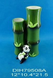 Hand-Painted Ceramic Panda Double Vases pictures & photos
