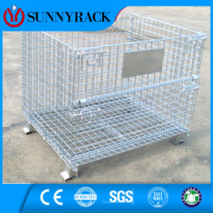 Foldable and Stackable Euro-Style Wire Container with Ce Approved pictures & photos