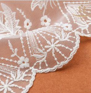 African New Design 35cm White Flexible Mesh Lace Trimming /Elastic Lace Wholesale/Lace Elastic pictures & photos