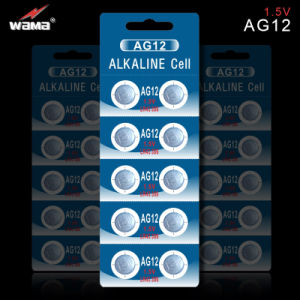 Guangzhou Wama Factory Made AG12 1.5V Button Cell Battery