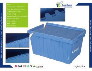 Nestable Plastic Logistic Container for Warehouse pictures & photos