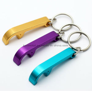 Custom Beautiful Anodized Color Metal Beer Bottle Opener Keychain pictures & photos