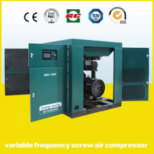 110kw Inverter Soft Start Permanent Magnetic Variable Frequency Screw Air Compressor pictures & photos