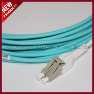 Fiber Optic LC Duplex OM3 Multimode Uniboot Patch Cord OFNP Cables pictures & photos