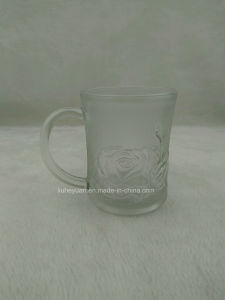 250ml High Quality, Frosted, and Creative Water Glass Cup, Tea Cup with Handle pictures & photos