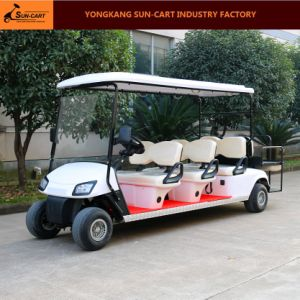 8 Passenger Electric Golf Cart Electric Vehicles with Rear Flip Seats pictures & photos
