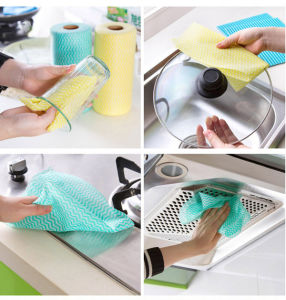 Tear off Point Roll Dishcloth Nonwoven Microfiber Cleaning Cloth Kitchen pictures & photos