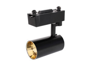 Gold Reflector 30W Surface Mounting Type LED Black Track Light pictures & photos