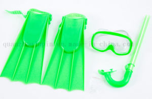 Children Diving Swimming Fins Flipper Mask Goggles Snorkel Set pictures & photos
