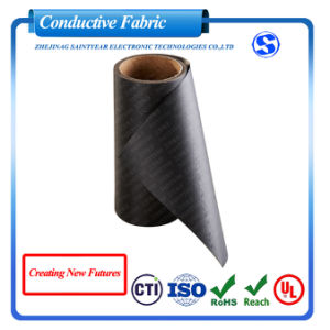 Factory Wholesale Military Grade EMI Fabric Ripstop Nickel Copper Black Conductive Fabric RFID Blocking Fabric for Wallets pictures & photos