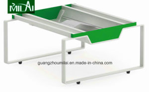 Whole Sale Price Straight Design Office Meeting Table with Steel Leg pictures & photos