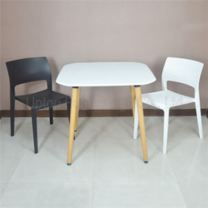 (SP-RT527) Modern Wooden Leg Square White Plastic Dining Table pictures & photos