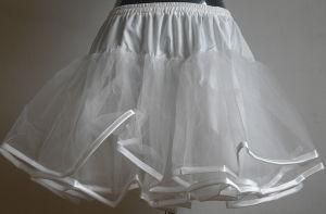 Women Mini Tutu Skirt Black Chiffon Tulle Cheap Swing Petticoat pictures & photos