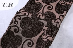 Jacquard Flocking Fabric by Cheaper Price pictures & photos