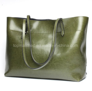 New Fashion Leather Shoulder Hand Bag Ladies Large Capacity Leather Shopping Handbags pictures & photos
