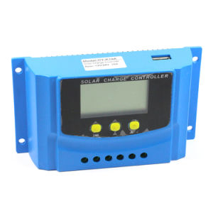 12V/24V 30A Solar Charger Controller USB 5V/2A for Solar System with Ce Cy-K30A pictures & photos