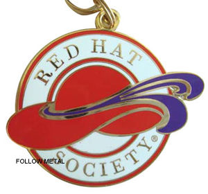 Key Chain with Red Hat Logo for Gift pictures & photos