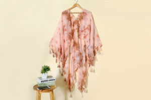 2016 High Quality Spring Multicolor Lady Scarf Tie Dye Warm Voile Shawl Dress pictures & photos