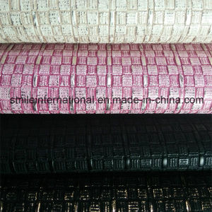 PU Digital Printing Artificial Flower Leather for Handbags pictures & photos