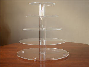 Supermarket Countertop Acrylic Cupcake Food Display Case (BTR-K4027) pictures & photos