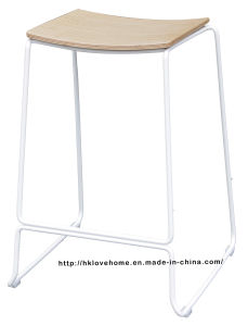 Replica Modern Steel Furniture Plywood Wooden Counter Bar Stools pictures & photos