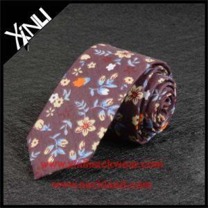Cotton Printed Wholesale Skinny Tie Floral for Men pictures & photos