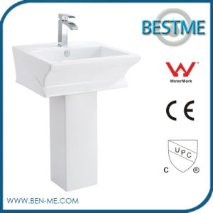 White Ceramic Sanitary Ware Bathroom Pedestal Basin pictures & photos
