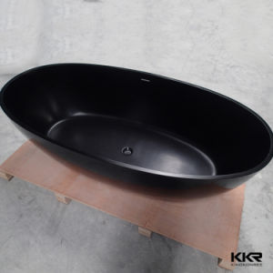 Black Acrylic Solid Surface Stone Freestanding Bath Tub (BT1704212) pictures & photos